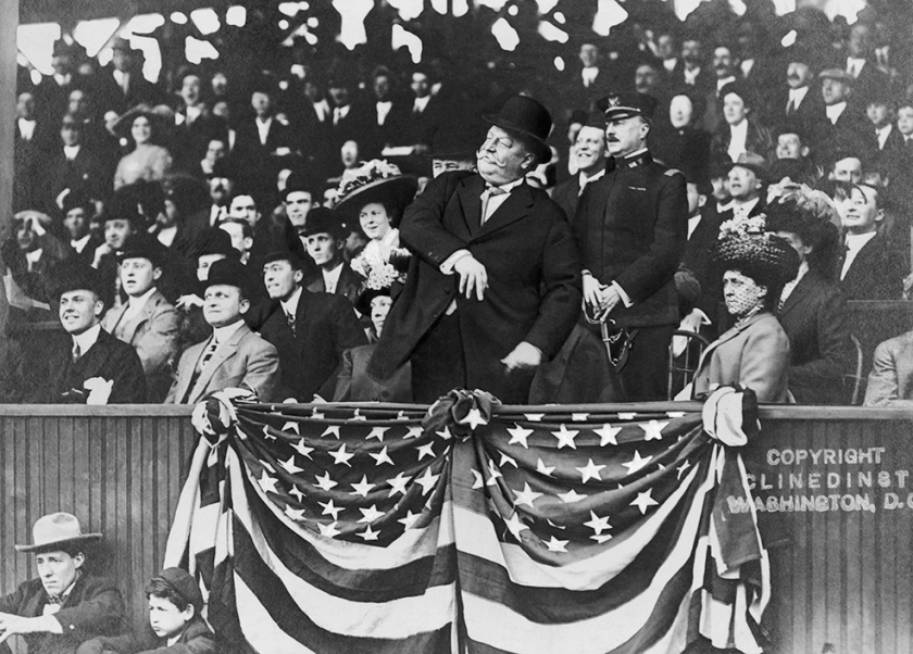 President Taft Throwing the First Pitch at a Baseball Game