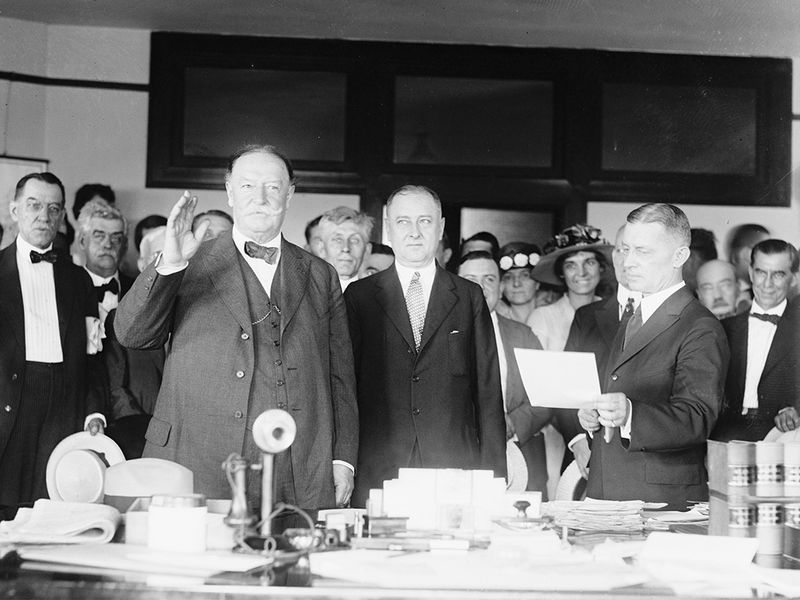 taft sworn in