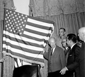 ike and flag